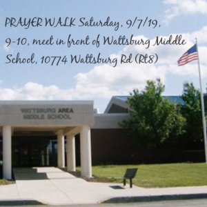 Wattsburg Prayer Walk