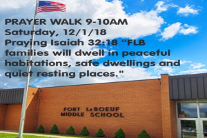 Fort LeBoeuf Prayer Walk