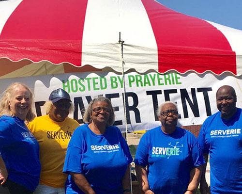 ServErie 2019 Group Image by PrayErie Tent