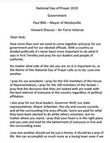 2019 Government Prayer Image