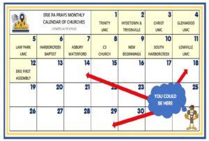 Erieprays calendar